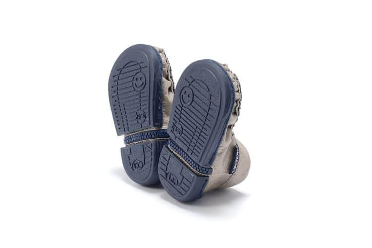 Walkkings-Zip-Around-Baby-Kids-Todder-First-Step-Shoes-Beige-Bottom -
