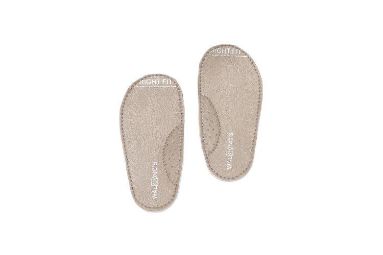 Walkkings-Zip-Around-Baby-Kids-Todder-First-Step-Shoes-Beige-Insole -