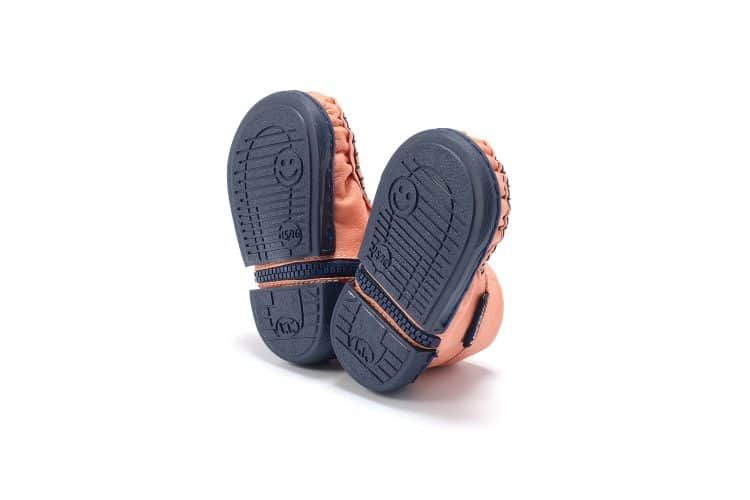 Walkkings-Zip-Around-Baby-Kids-Todder-First-Step-Shoes-Coral-Bottom