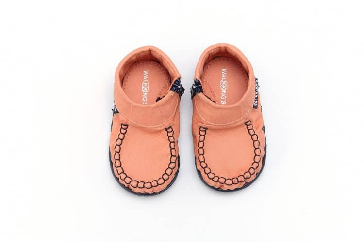 Walkkings-Zip-Around-Baby-Kids-Todder-First-Step-Shoes-Coral-Pink-Top
