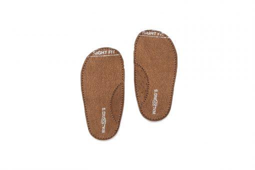 Walkkings-Zip-Around-Baby-Kids-Todder-First-Step-Shoes-Dark-Brown-Shiny-Insole