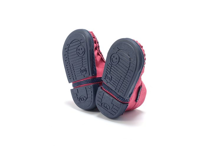 Walkkings-Zip-Around-Baby-Kids-Todder-First-Step-Shoes-Dark-Pink-Bottom