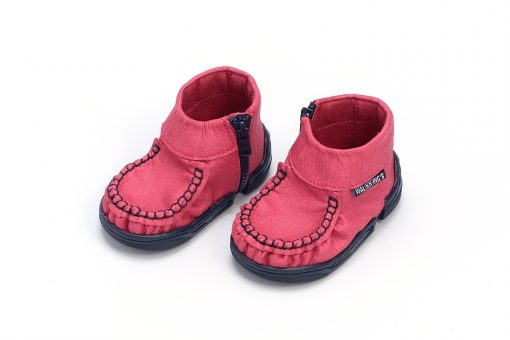 Walkkings-Zip-Around-Baby-Kids-Todder-First-Step-Shoes-Dark-Pink-Side