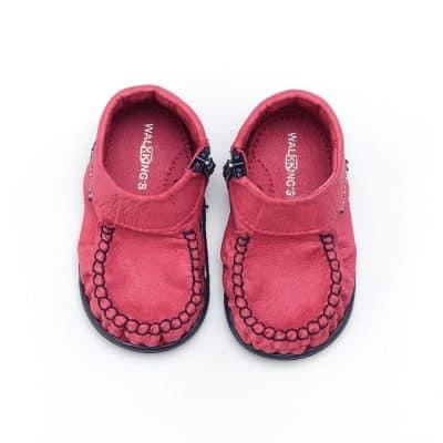 Walkkings-Zip-Around-Baby-Kids-Todder-First-Step-Shoes-Dark-Pink-Top