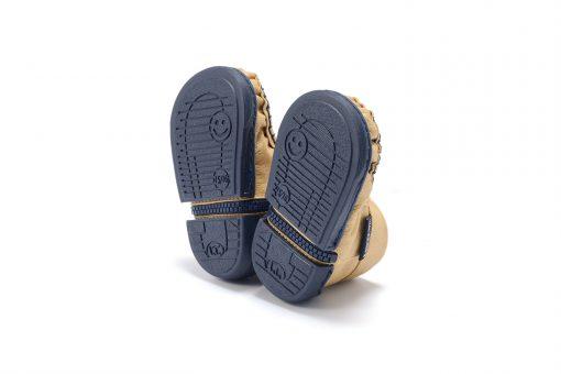 Walkkings-Zip-Around-Baby-Kids-Todder-First-Step-Shoes-Gold-Bottom