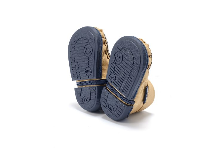 Walkkings-Zip-Around-Baby-Kids-Todder-First-Step-Shoes-Gold-Bottom