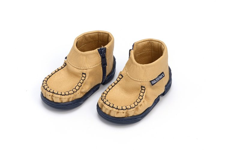 Walkkings-Zip-Around-Baby-Kids-Todder-First-Step-Shoes-Gold-Side