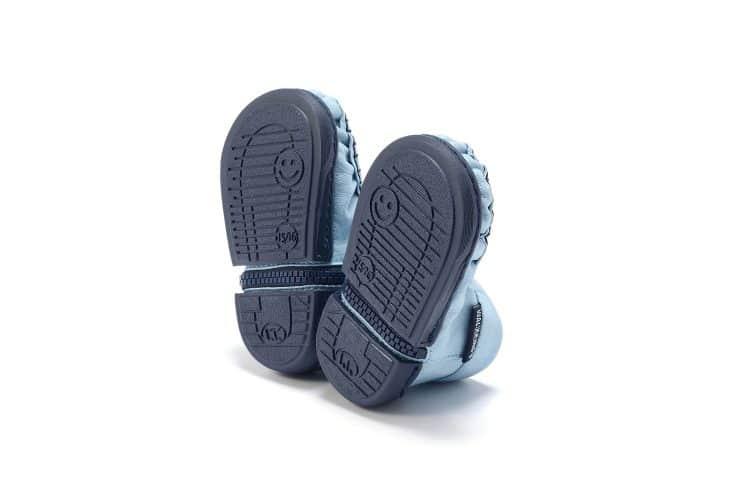 Walkkings-Zip-Around-Baby-Kids-Todder-First-Step-Shoes-Light-Blue-Bottom