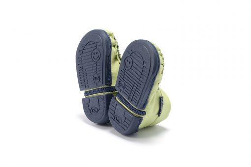 Walkkings-Zip-Around-Baby-Kids-Todder-First-Step-Shoes-Light-Green-Bottom