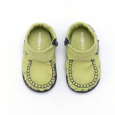buty do nauki chodzenia walkkings kolor green light