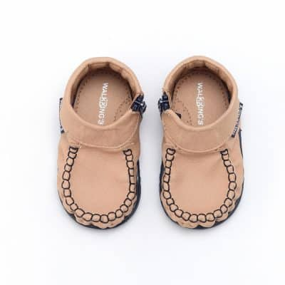 Walkkings-Zip-Around-Baby-Kids-Todder-First-Step-Shoes-Nude-Top