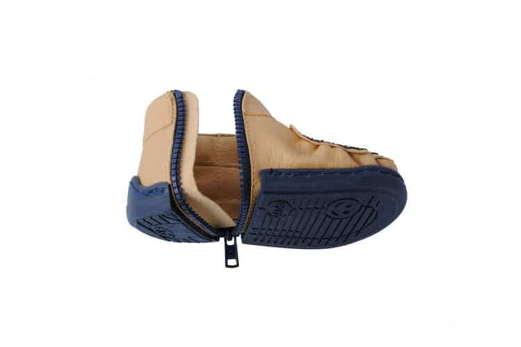 Walkkings-Zip-Around-Baby-Kids-Todder-First-Step-Shoes-caramel-Unzipped