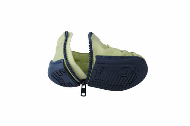 Walkkings-Zip-Around-Baby-Kids-Todder-First-Step-Shoes-green-Unzipped