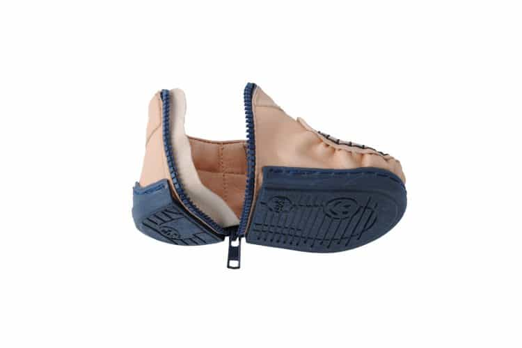 Walkkings-Zip-Around-Baby-Kids-Todder-First-Step-Shoes-nude-Unzipped