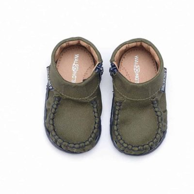 Buty do nauki chodzenia walkkings kolor midnight green