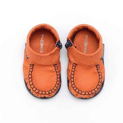 Buty dla niemowlaka walkkings kolor oranginho