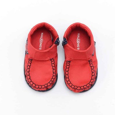 Walkkings-Zip-Around-Baby-Kids-Todder-First-Step-Shoes-Red-Top