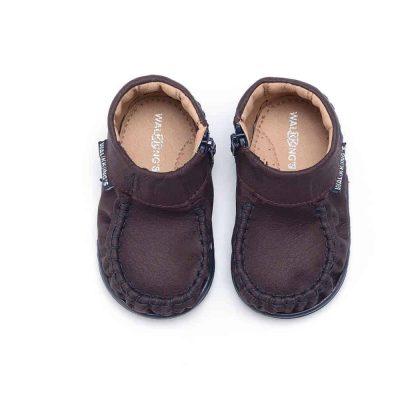 Walkkings-Zip-Around-Baby-Kids-Todder-First-Step-Shoes-Dark-Purple-Top
